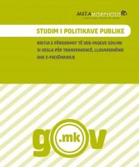 STUDIM I POLITIKAVE PUBLIKE - RRITJA E PËRDORIMIT TË UEB-FAQEVE GOV.MK