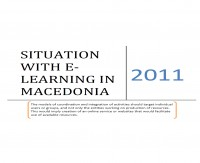 Situation with e-Learning in Macedonia