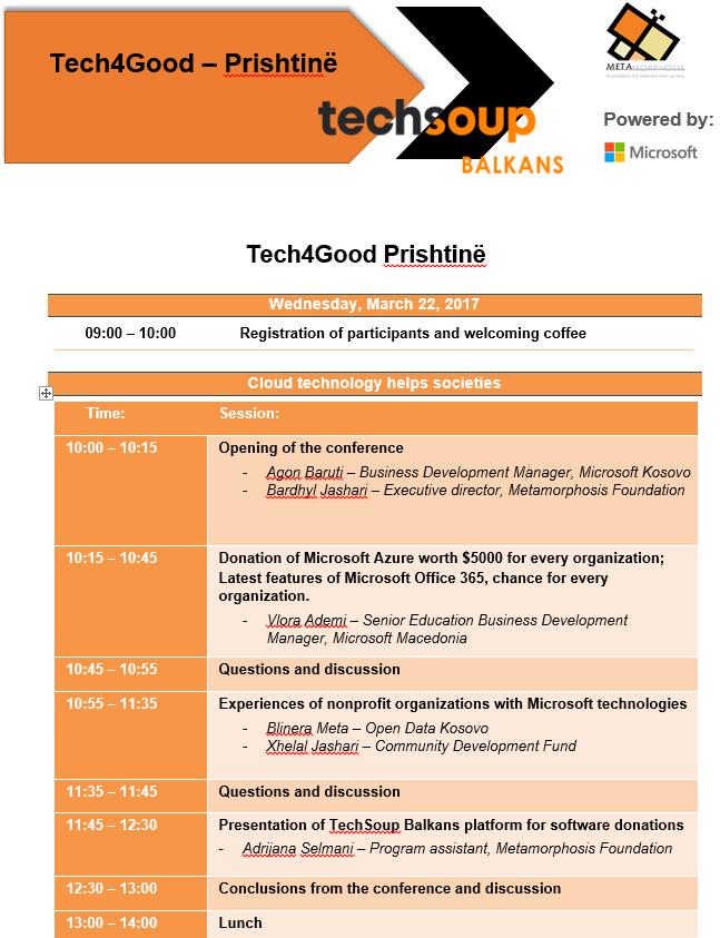 Tech4good Agenda Prishtinë
