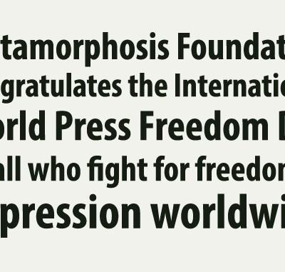 world press freedom day metamorphosis EN